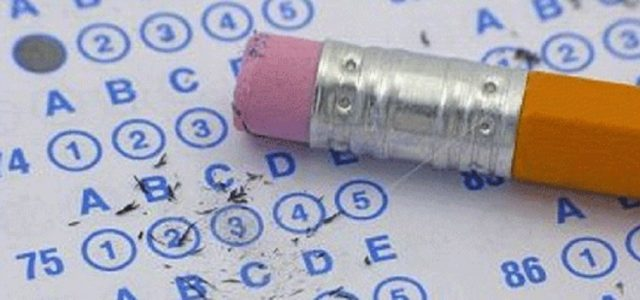 Pencil Eraser with Scantron Test