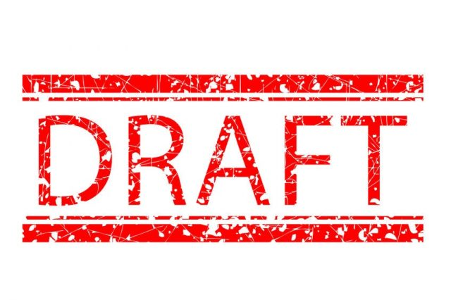 Rubber Stamp: Draft