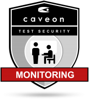 Online Test Monitoring Services Badge | Caveon Test Security