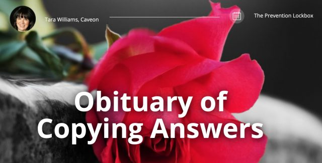 Obituary of Copying Answers - The Lockbox
